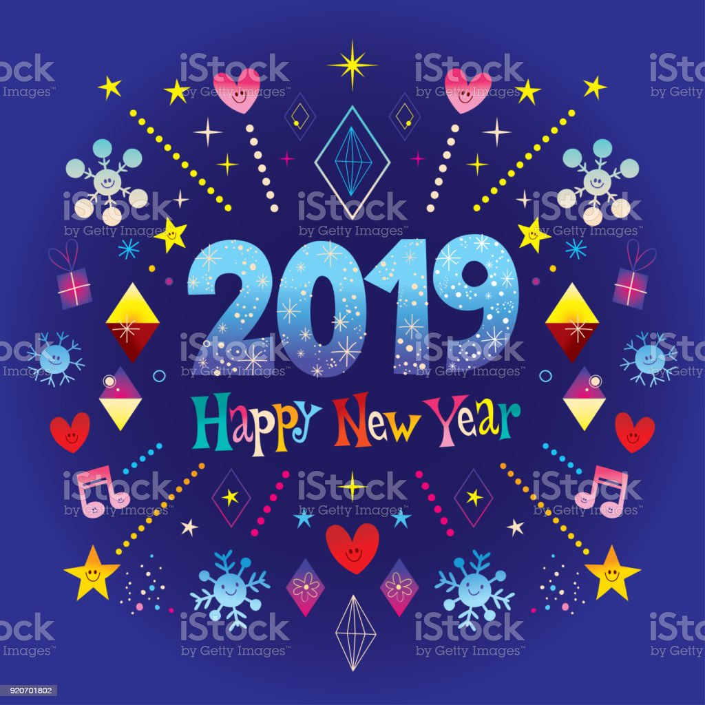 happy new year 2019 greeting card royalty free happy new year 2019 greeting card stock