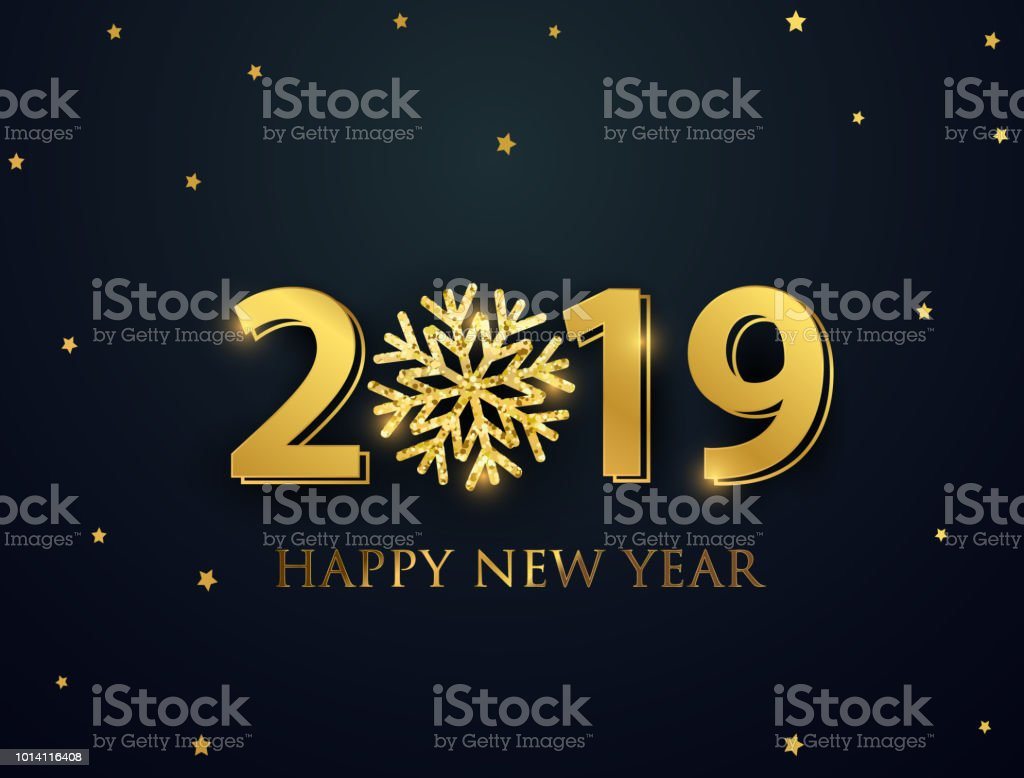 happy new year 2019 greeting card with numbers and vector celebration white background royalty