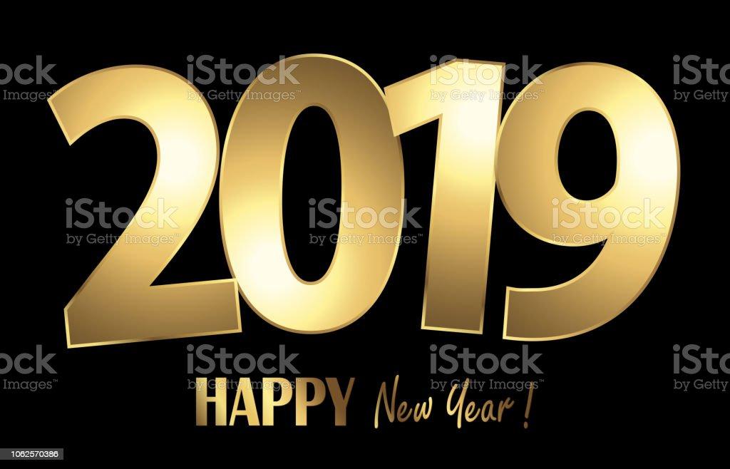 Frohes Neues Jahr 2019 Grüße Hintergrund Stock Vektor Art und mehr ...