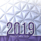 Happy new year 2019 with gold glitter and space for your text. Creative greeting card with long shadows and a modern geometric background can be used for design. The layers are named to facilitate your customization. Vector Illustration (EPS10, well layered and grouped). Easy to edit, manipulate, resize or colorize. Please do not hesitate to contact me if you have any questions, or need to customise the illustration. http://www.istockphoto.com/portfolio/bgblue