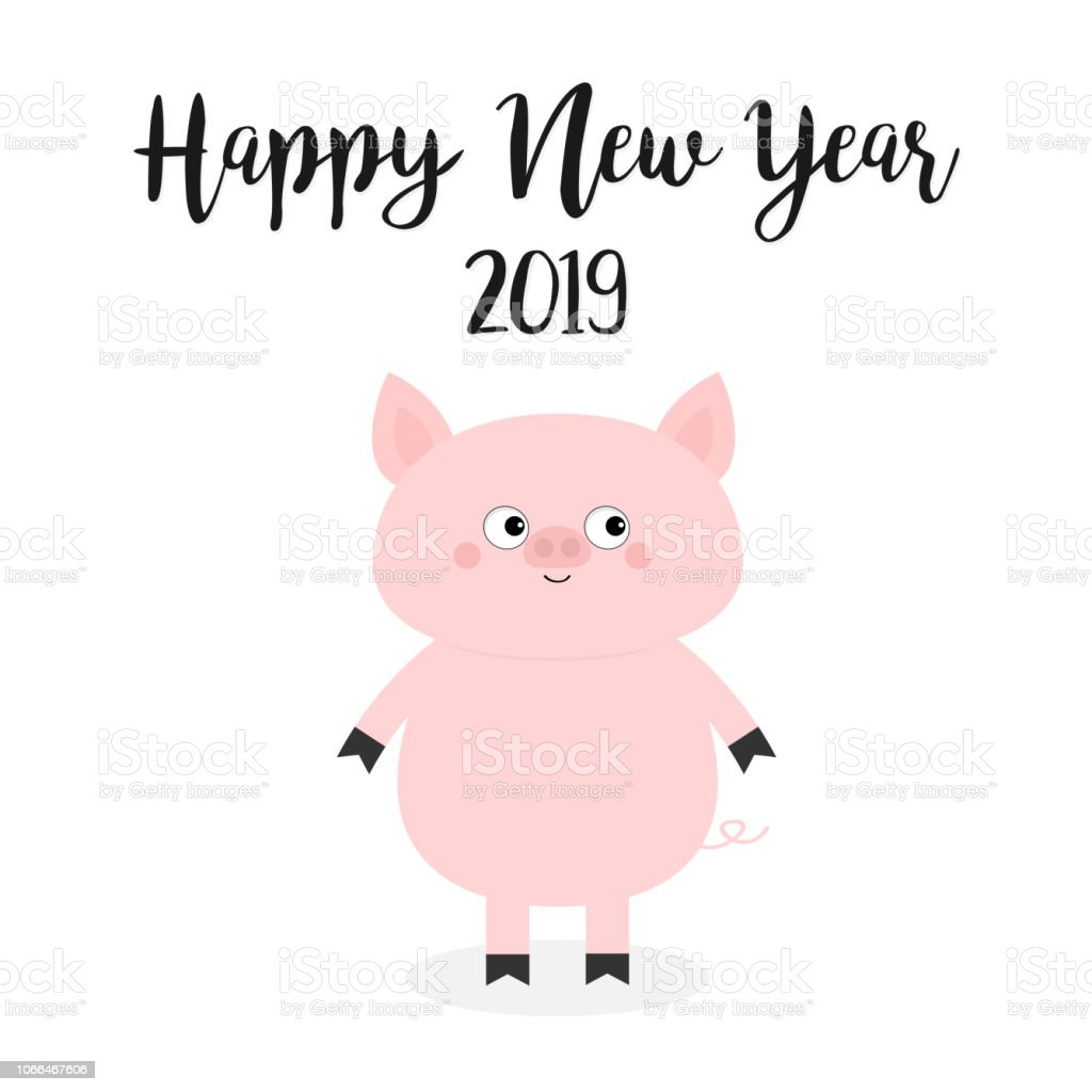 pretty cute happy new year images happy new year 2019 pig pink