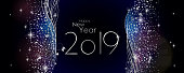 happy new year 2019 vector large banner
