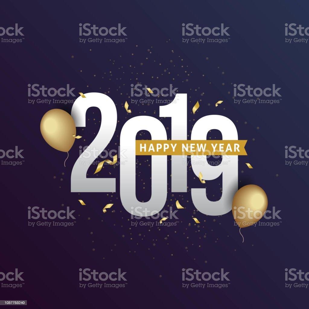 Feliz ano novo de 2019 vetores de feliz ano novo de 2019 e mais imagens de 2018 royalty-free
