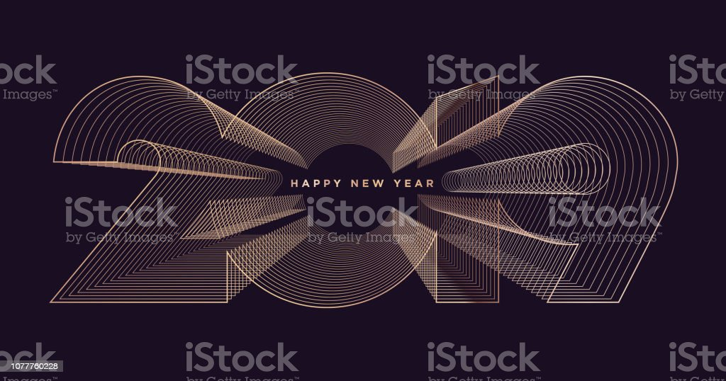 Glückliches neues Jahr 2019 – Vektorgrafik