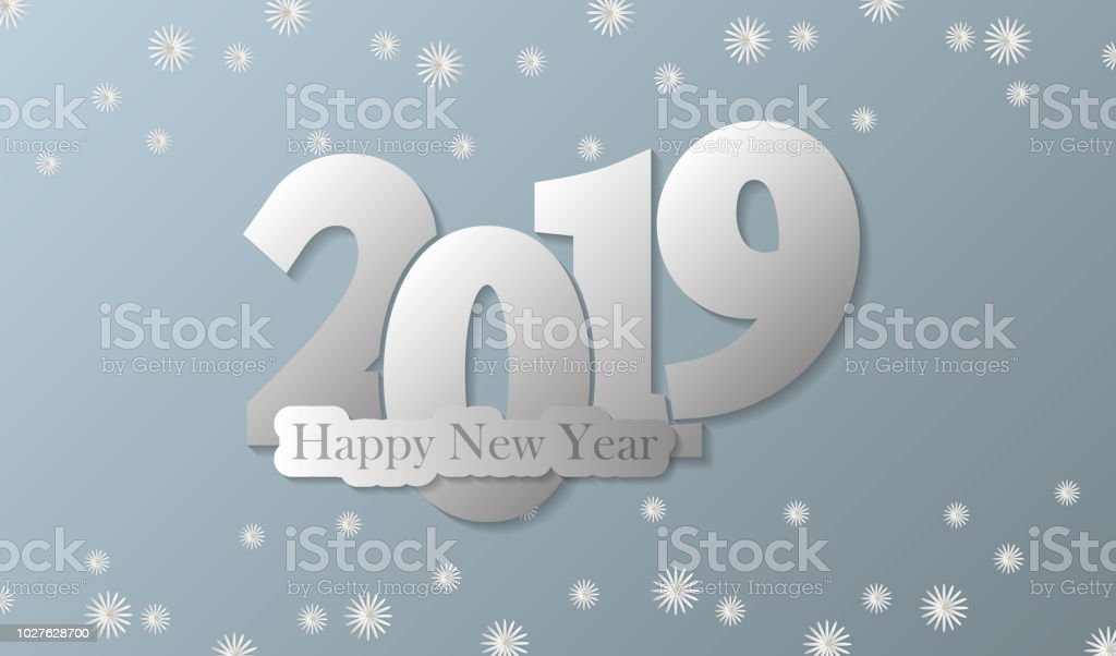 Happy New Year 2019 Vector Illustration Suitable For Wallpaper