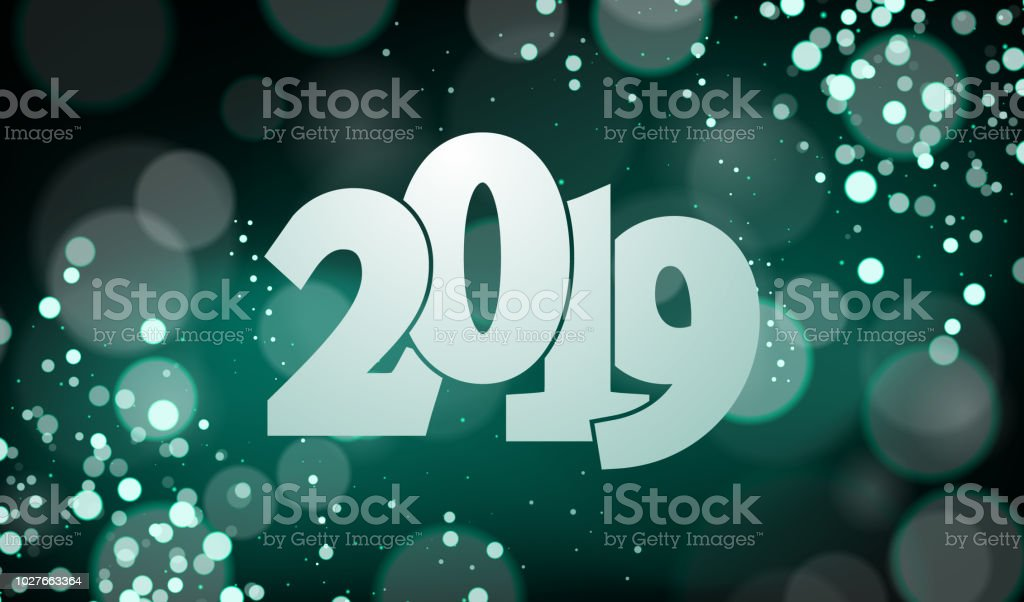 Happy New Year 2019 Vector Illustration Suitable For