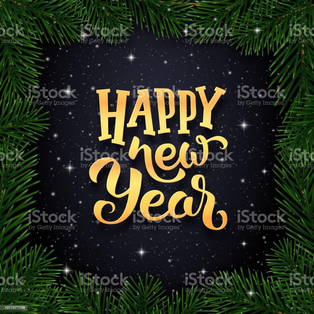 Winterurlaub Weihnachten 2019.Glückliches Neues Jahr 2019 Wünscht Typografie Text Und Grenze Zu