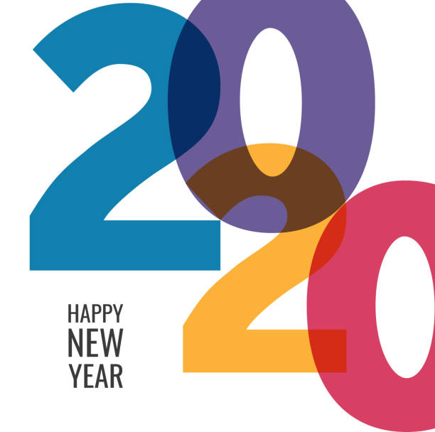 happy new year 2020 background for your christmas - happy new year stock illustrations
