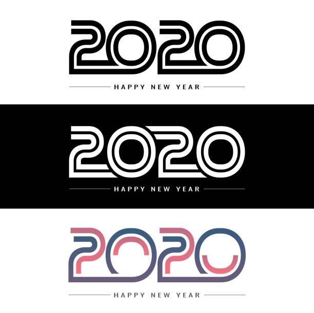 Frohes neues Jahr 2020 Hintergrund für Ihr Weihnachtsfest – Vektorgrafik