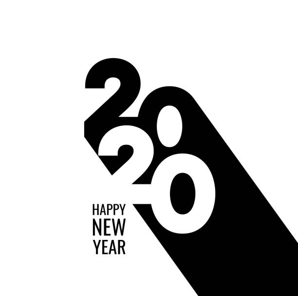 Happy New Year 2020 Background for your Christmas Abstract gradient Happy New Year 2020 Background for your Christmas. EPS 10 vector illustration, contains transparencies. High resolution jpeg file included. 2020 stock illustrations