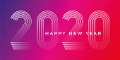Happy New Year 2020 Background. Stock illustration