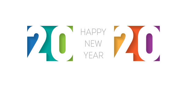 Happy new year 2020 banner. Brochure or calendar cover design template. Cover of business diary for 20 20 with wishes. The art of cutting paper. Happy new year 2020 banner. Brochure or calendar cover design template. Cover of business diary for 20 20 with wishes. The art of cutting paper. 2020 stock illustrations