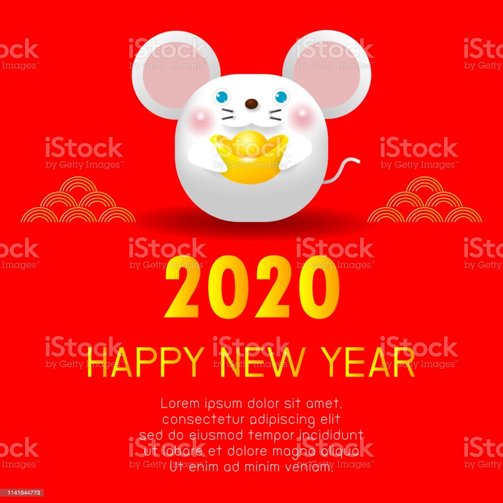When Is Chinese New Year 2020.Happy New Year 2020 Nouvel An Chinois Lannee Du Rat Carte De