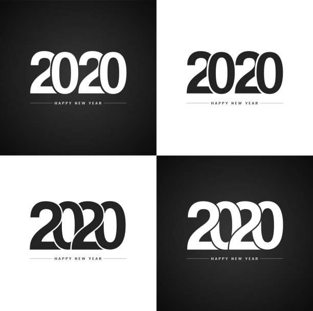 Frohes neues Jahr 2020 Sammlung für Ihr Weihnachtsfest – Vektorgrafik