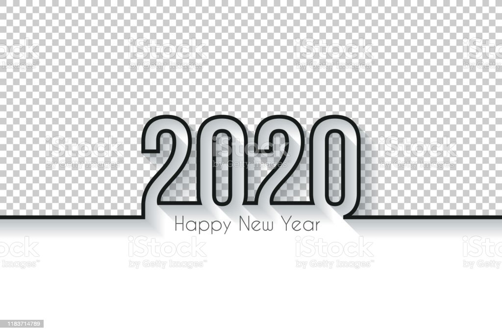 Happy new year 2020 Design - Blank Background - Royalty-free 2020 stock vector