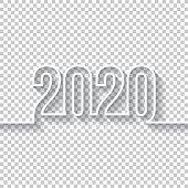 istock Happy new year 2020 Design - Blank Background 1184818382