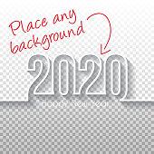 istock Happy new year 2020 Design - Blank Background 1190791431