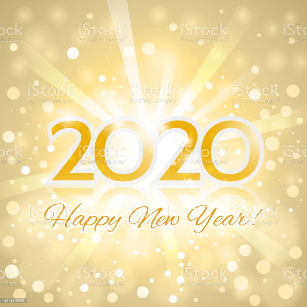 Happy New Year 2020 Greeting Card Stock Illustration Download Image Now Istock