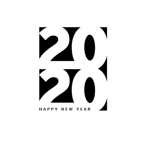 Frohes neues Jahr 2020 Schriftzug für Ihr Weihnachtsfest – Vektorgrafik