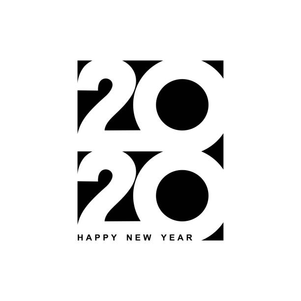 Happy New Year 2020 logo text design. Cover of business diary for 2020 with wishes. Brochure design template, card, banner. Vector illustration. Isolated on white background. Happy New Year 2020 logo text design. Cover of business diary for 2020 with wishes. Brochure design template, card, banner. Vector illustration. Isolated on white background. 2020 stock illustrations