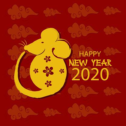 Happy new year 2020 of the Rat.