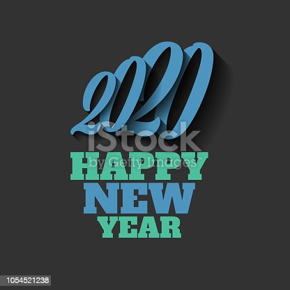 happy new year 2020 sign on the black background stock vector art