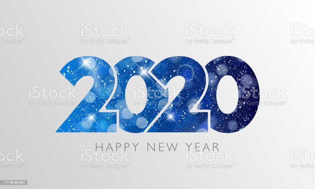 Happy New Year 2020 text design. - Royalty-free 2020 arte vetorial