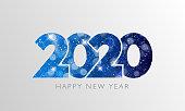 Happy New Year 2020 text design.