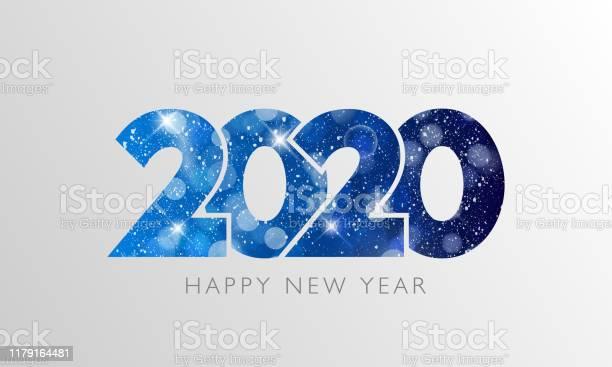 Happy New Year 2020 Text Design - Arte vetorial de stock e mais imagens de 2020