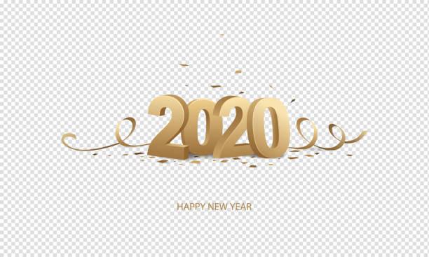 happy new year 2020 - happy new year stock illustrations