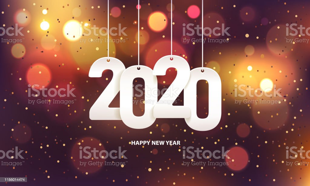 Happy new year 2020 - Royalty-free 2020 arte vetorial