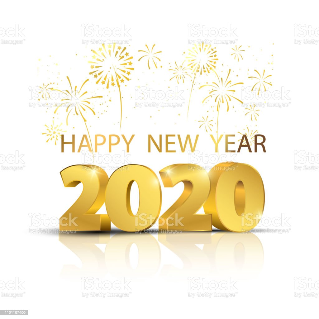 2020 Happy New Year.Happy New Year 2020 Stock Illustration Download Image Now