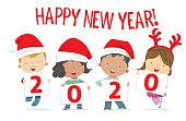 Vector Happy New Year 2020