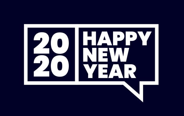ilustrações, clipart, desenhos animados e ícones de feliz ano novo 2020 - font