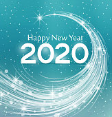 Happy New Year 2020, vector illustration Christmas background
