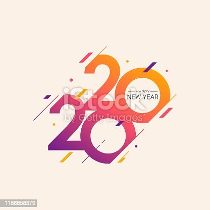 istock Happy New Year 2020 vector illustration 1186858379