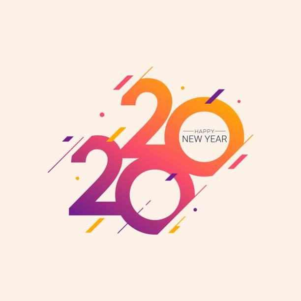 Happy New Year 2020 vector illustration Happy New Year 2020 vector illustration for banner, flyer and greeting card 2020 stock illustrations