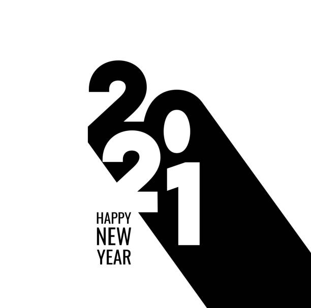 Happy New Year 2021 Background for your Christmas Abstract gradient Happy New Year 2021 Background for your Christmas. EPS 10 vector illustration, contains transparencies. High resolution jpeg file included. new years day stock illustrations