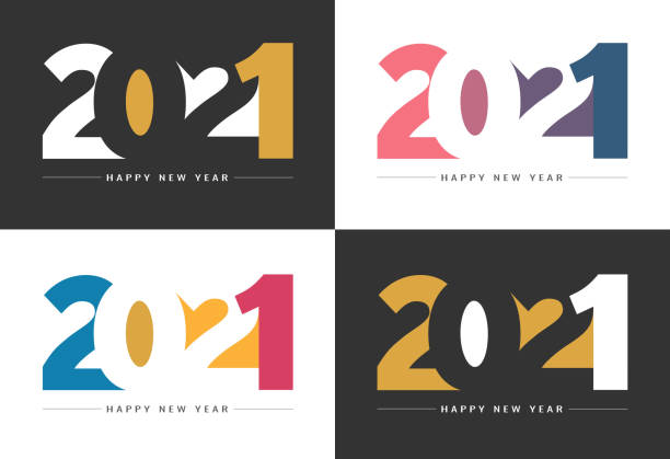 Happy New Year 2021 Background for your Christmas Abstract gradient Happy New Year 2021 Backgrounds for your Christmas. EPS 10 vector illustration, contains transparencies. High resolution jpeg file included. new years day stock illustrations