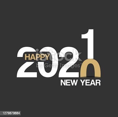 Abstract modern Happy New Year 2021 Background for your Christmas. EPS 10 vector illustration, contains transparencies. High resolution jpeg file included.