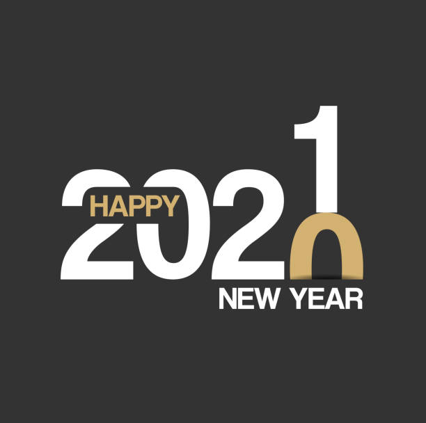 Happy New Year 2021 Background for your Christmas Abstract modern Happy New Year 2021 Background for your Christmas. EPS 10 vector illustration, contains transparencies. High resolution jpeg file included. new years day stock illustrations