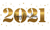 Happy New Year 2021 Background. Template for Christmas flyers, greeting cards, brochures.
