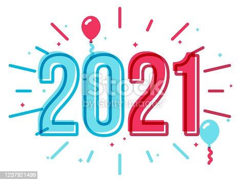 istock Happy New Year 2021 Celebration Party 1237921499