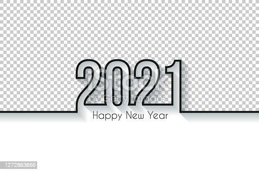 Happy new year 2021 Design - Blank Background