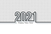 Happy new year 2021 with space for your text and your background. Creative greeting card in a trendy and modern style. Blank background for easy change background or texture. The layers are named to facilitate your customization. Vector Illustration (EPS10, well layered and grouped), easy to edit, manipulate, resize or colorize. And Jpeg file of different sizes.