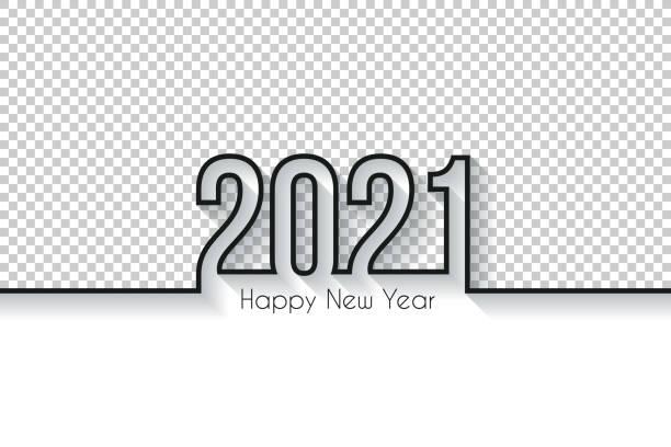 Happy new year 2021 Design - Blank Background vector art illustration