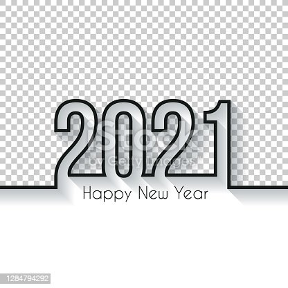istock Happy new year 2021 Design - Blank Background 1284794292