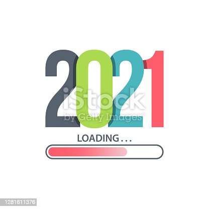 istock Happy new year 2021 Loading vector 1281611376