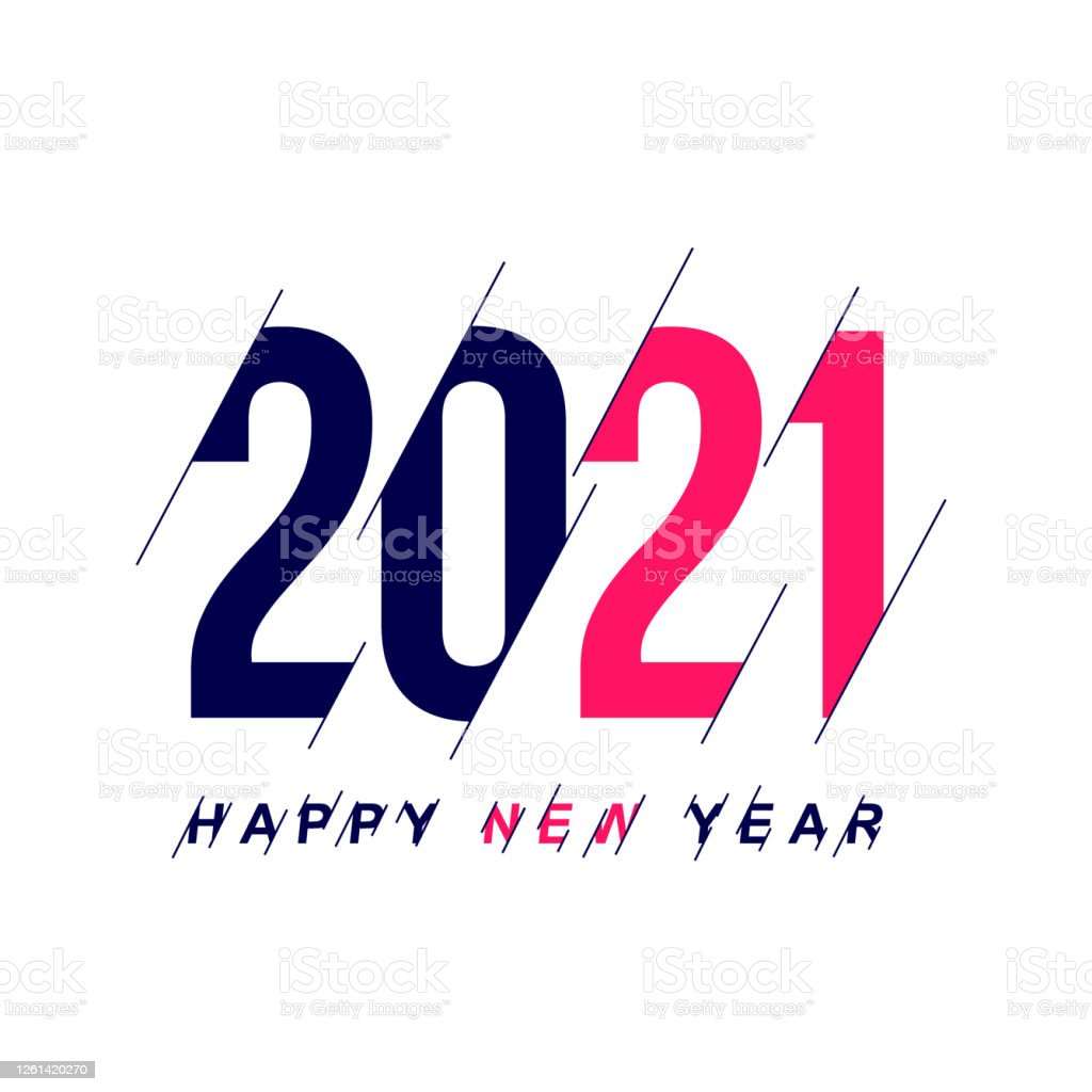 Happy New Year 2021 Template Design For Banner Greeting Cards Poster Brochure Or Print Vector Illustration Isolated On White Background Stock Illustration Download Image Now Istock