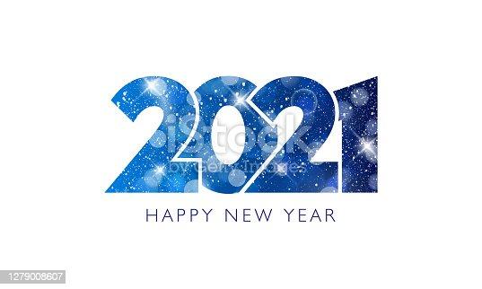 istock Happy New Year 2021 text design. 1279008607